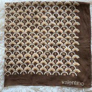 Vintage 70's Valentino brown cotton scarf
